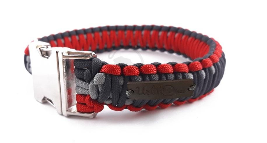 obojek-paracord-zapinaci-3cm-cerveny